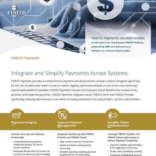FINEOS Payments Datasheet
